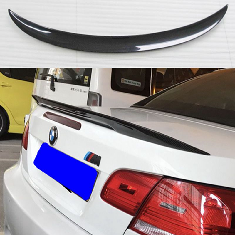 For BMW E92 Spoiler 3 Series 2 Door E92 M3 & E92 Coupe Carbon P Style Spoiler Performance Style 2005 - 2012 for bmw e92 carbon fiber spoiler p style 3 series e92 & e92 m3 carbon fiber rear spoiler rear trunk wing coupe 2 door 2005 2012