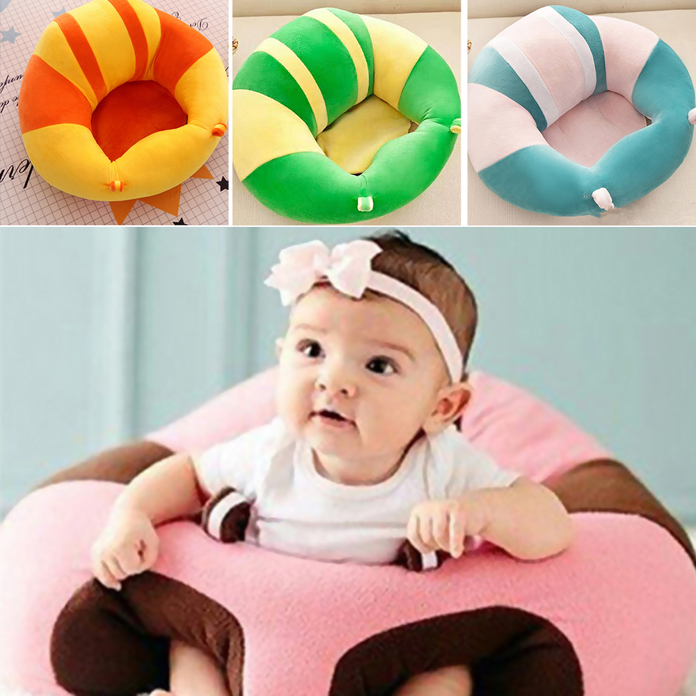 Infant Learning Chair Us 16 7 40 Off Baby Support Seat Plush Soft Baby Sofa Infant Learning To Sit Chair Keep Sitting Posture Comfortable For 12 Months Baby Chair In