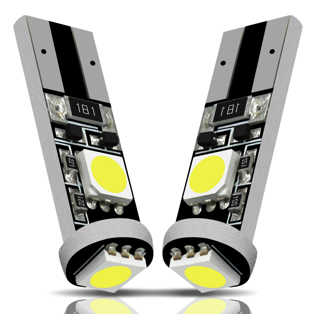 MODERN CAR <font><b>100Pcs</b></font> 3Smd 5050 <font><b>T10</b></font> LED Light 194 W5W <font><b>CANBUS</b></font> ERROR FREE Led Bulb Side Wedge Light 12V Car Clearance Parking Lights image