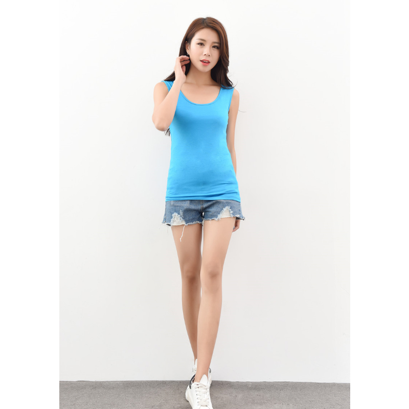 Plus Size 6XL 7XL 8XL Sexy Low cut Basic T shirts Tank Top Solid Cotton Self cultivati Sleeveless Camisole Tops Women 39 s Vest in Tank Tops from Women 39 s Clothing