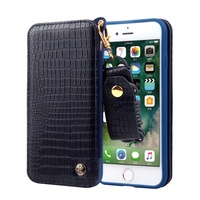Dulcii for apple i7 8 Cover fundas Becca Series Lizard Skin Leather TPU Cell Phone Case with Mirror and Card Slots for iPhone 7