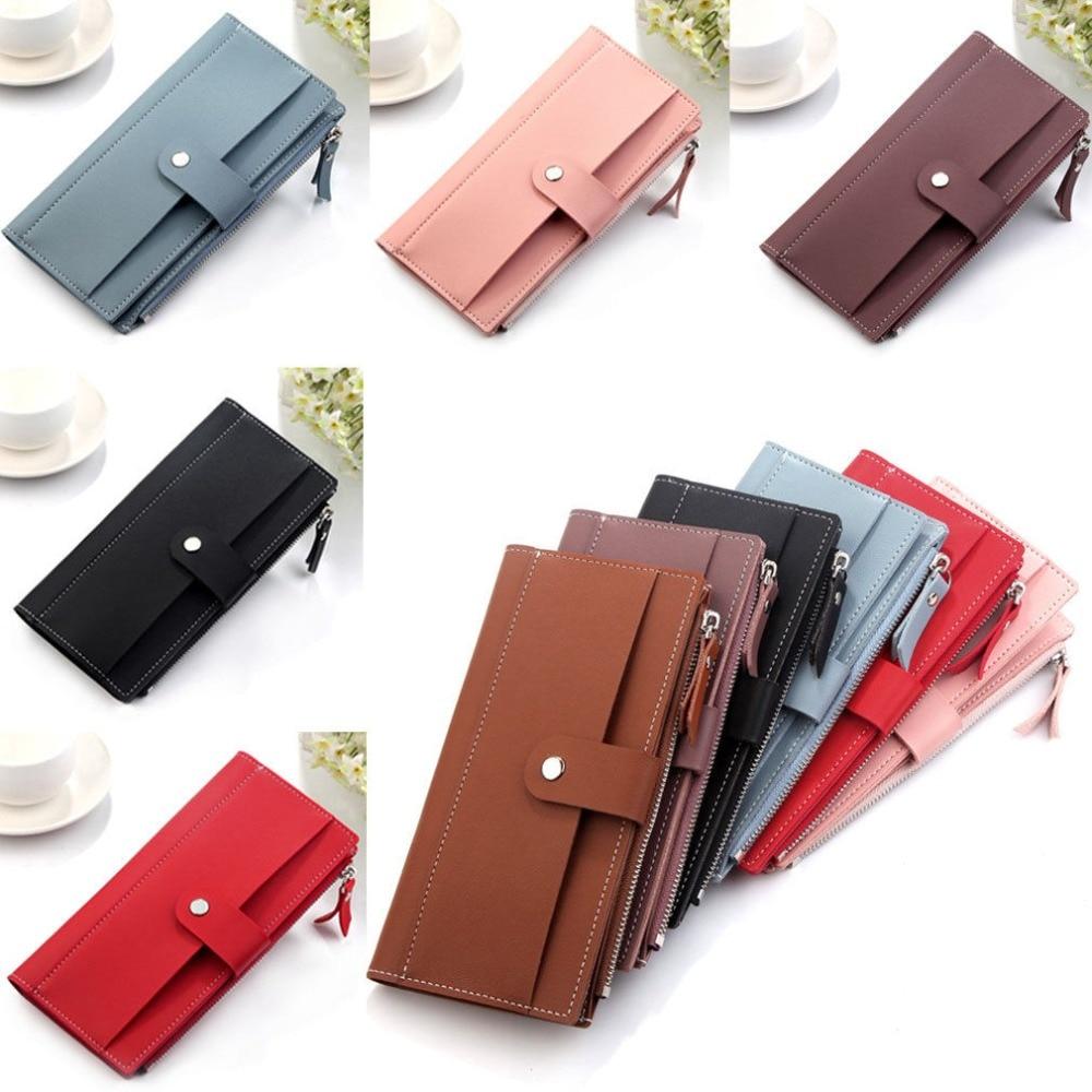 Fashion Women Leather Wallet Purse Long Handbag Clutch Phone Card Holder thinkthendo women leather card phone holder long arrow wallet checkbook tassel handbag purse