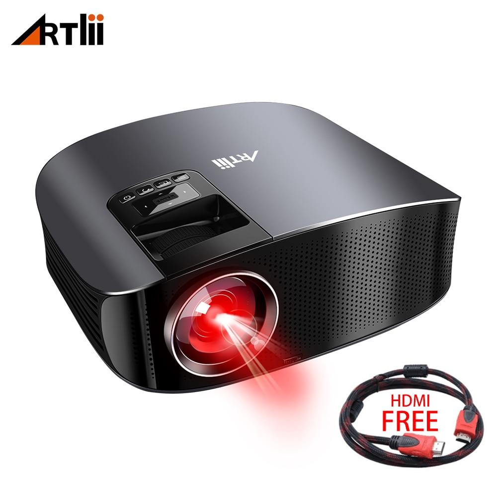Proyector LED para cine en casa proyector Multimedia LCD conectar Android, IOS, ayuda 1080 p Artlii juegos proyector de vídeo