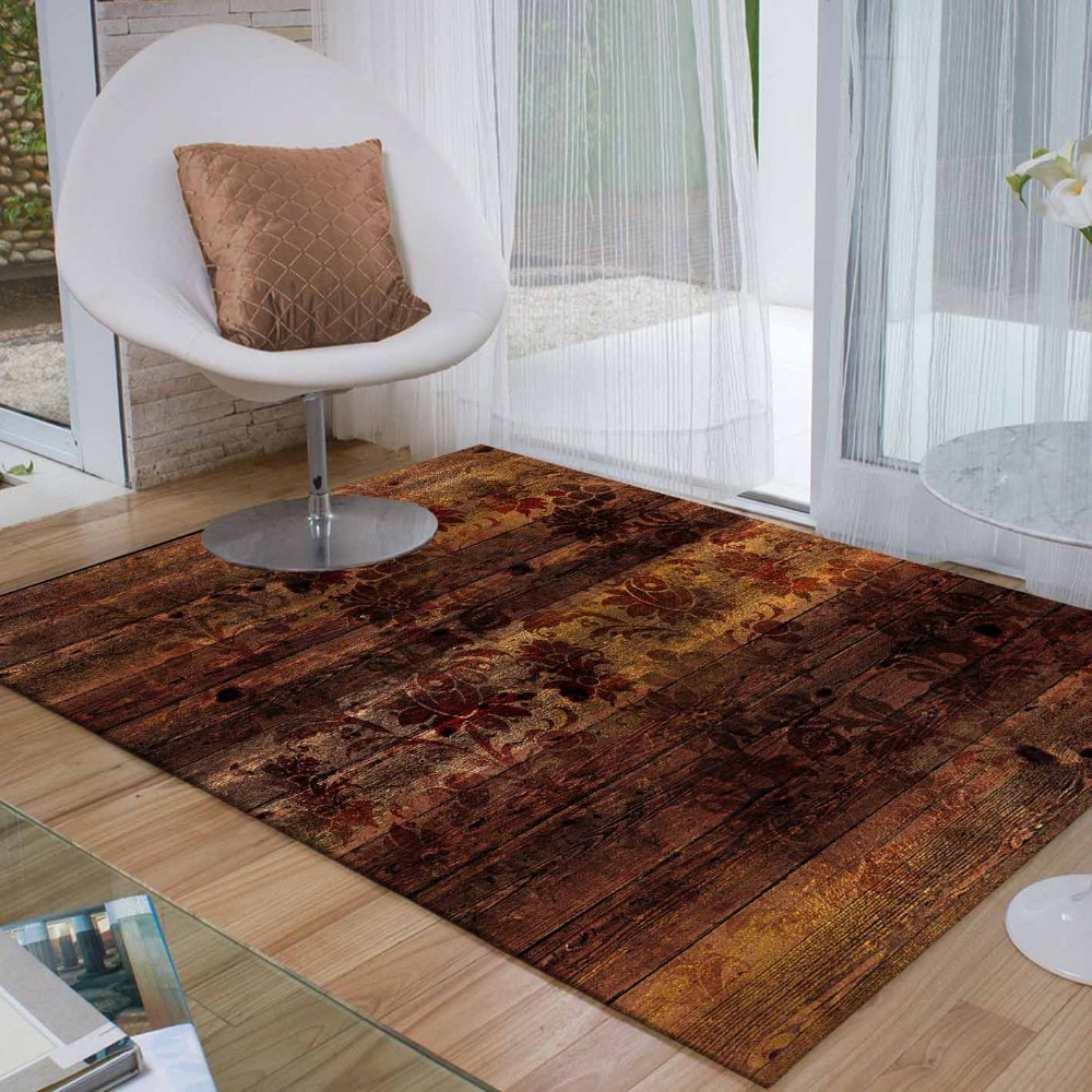 Else Yellow Brown Abstract Ethnic Authentic 3d Print Non Slip Microfiber Living Room Decorative Modern Washable Area Rug Mat