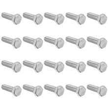 UXCELL 20Pcs Bolts M8 Thread 25mm 304 Stainless Steel Hex Head Screws Fastener For Ship Assembly Home Appliance