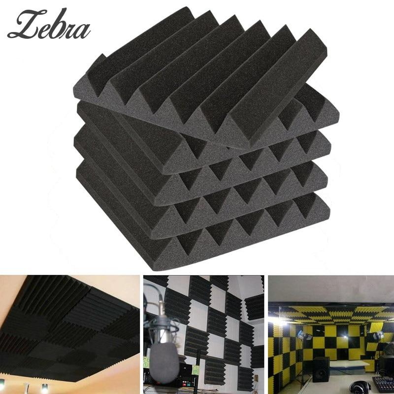 6Pcs/Lot 30*30*5cm Drum Room Parts & Accessories Acoustic Studio Foam Soundproofing Absorption Home Room Treatment Wedge Tiles