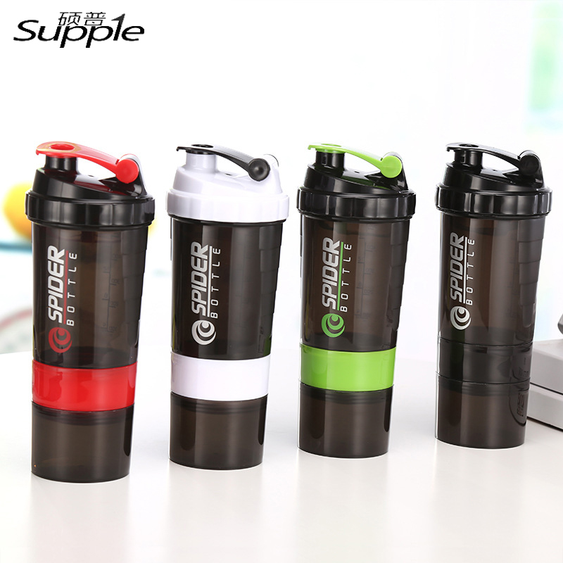 500Ml 3 Layer Herbalife Nutrition Water Bottle Food Grade Plastic Sports Shake Water Bottle with Tea Infuser Powder Stock