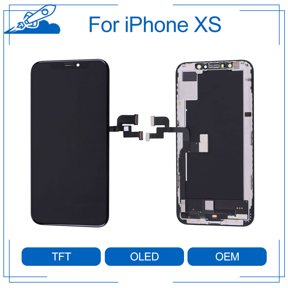 Elekworld Rigid Flexible OLED AAA Quality Tested Work Well LCDs For iPhone XS LCD Display 3D