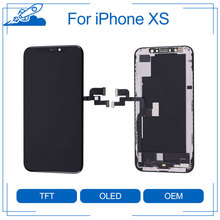 Elekworld sztywne elastyczne OLED AAA jakość testowane działa dobrze LCD dla iPhone XS wyświetlacz LCD 3D ekran dotykowy Digitizer zgromadzenie
