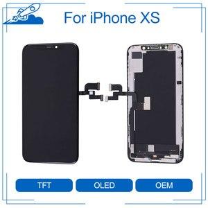 Image 1 - Elekworld sztywne elastyczne OLED AAA jakość testowane działa dobrze LCD dla iPhone XS wyświetlacz LCD 3D ekran dotykowy Digitizer zgromadzenie
