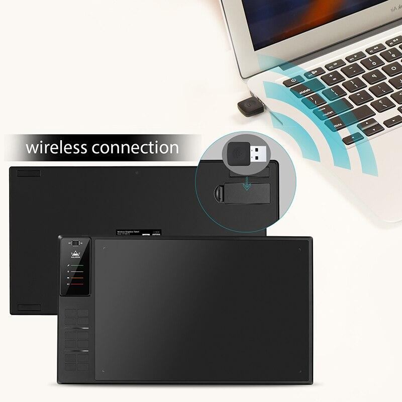 Image 5 - Huion giano WH1409 V2 ワイヤレスグラフィック描画タブレットデジタルペンタブレットチルト機能バッテリーフリーで 8192 レベルデジタル錠   -