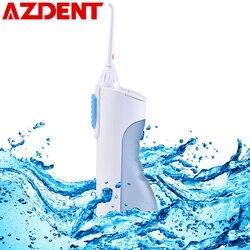 AZDENT Ирригатор для полости рта Портативный воды стоматологических Flosser струи воды, очистки зубов мундштук протез во рту очиститель зубной ще...