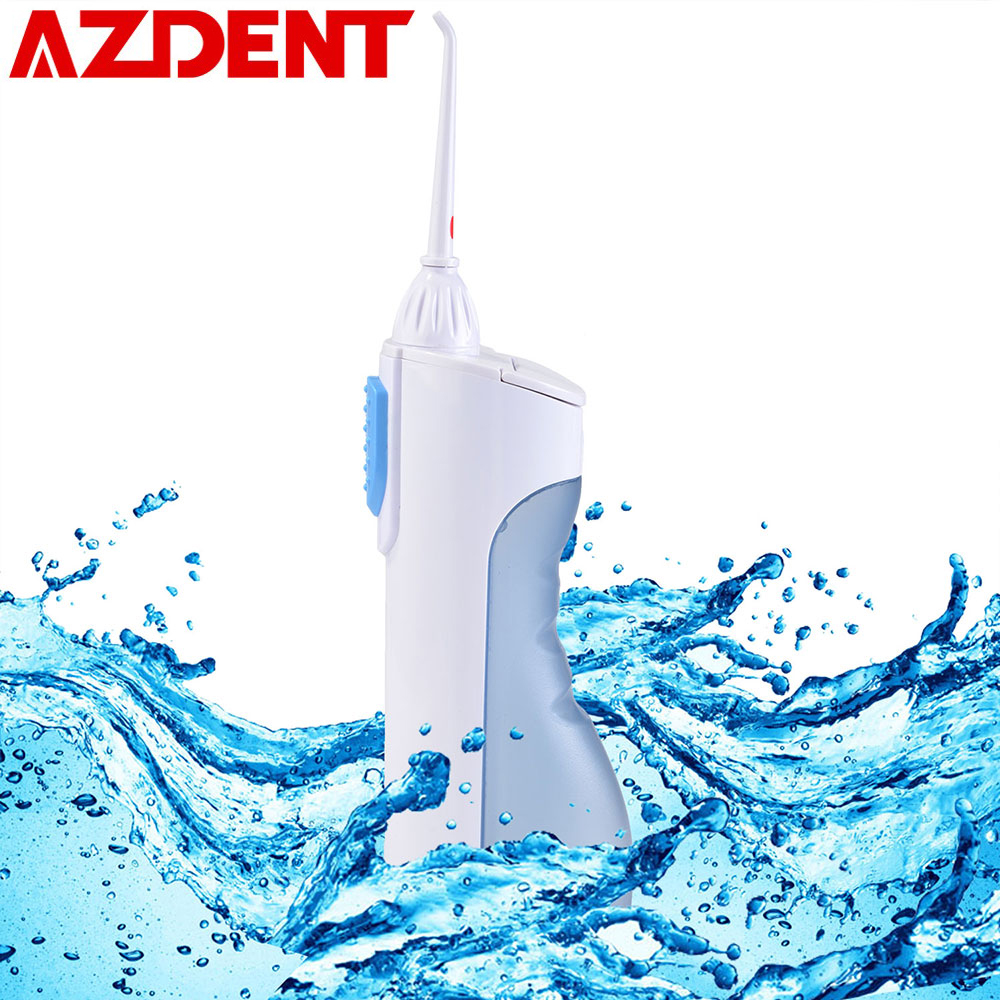 AZDENT portátil irrigador Oral agua Flosser agua de limpieza de dientes boca boquilla dentadura dientes cepillo herramientas