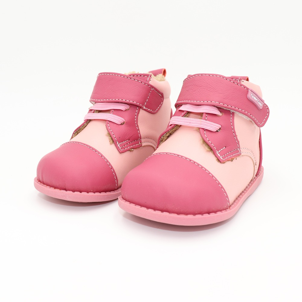 Tipsietoes 2018 New Winter Children Shoes Leather Martin Boots Kids Snow Girls Boys Rubber Boots Fashion Pink Sneakers