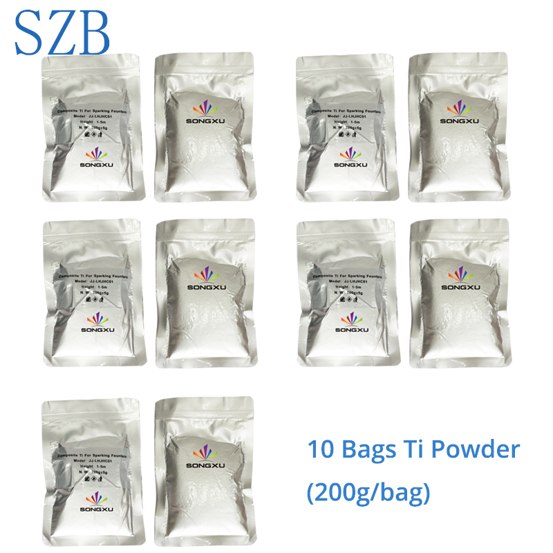 10 Bags Powder For 400w Electric Cold Spark Firework Machine For Wedding Celebration Party Club/szb-cl-2013 To Have Both The Quality Of Tenacity And Hardness