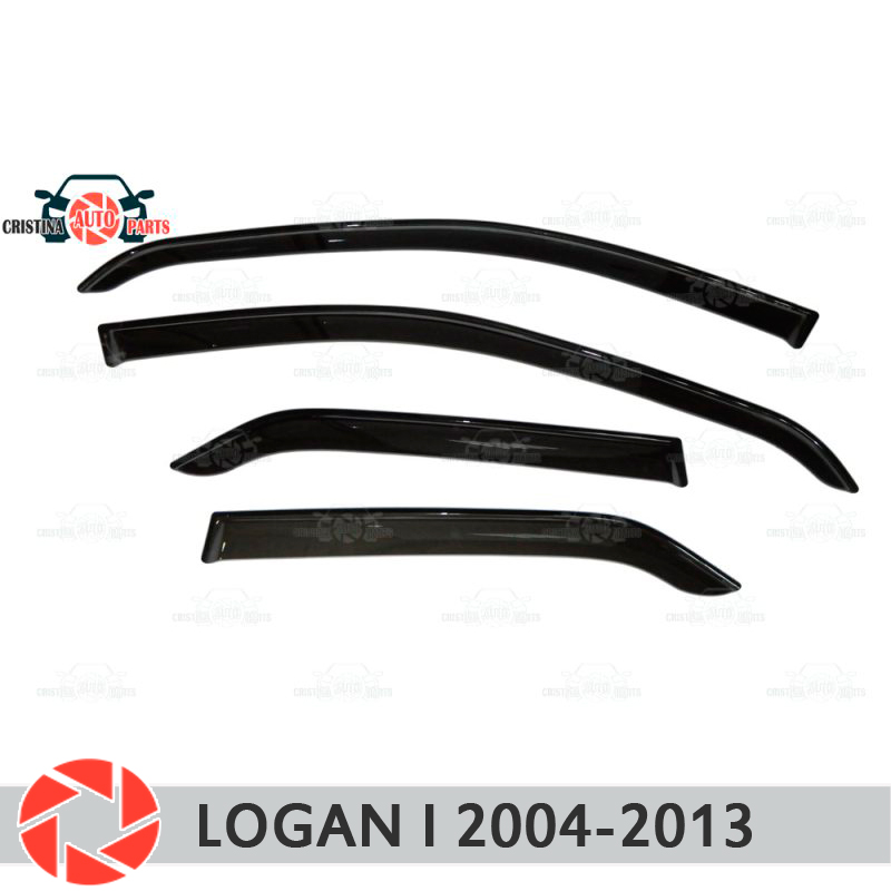 Window deflector for Renault Logan 2004-2013 rain deflector dirt protection car styling decoration accessories molding window deflector for mitsubisi pajero 2 1990 2004 rain deflector dirt protection car styling decoration accessories molding