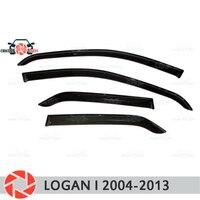 Window deflector for Renault Logan 2004-2013 rain deflector dirt protection car styling decoration accessories molding