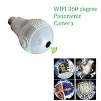 1 3MP 2MP IP Camera Wi Fi Bulb Lamp Fisheye Camera Wi Fi FishEye 360 Degree