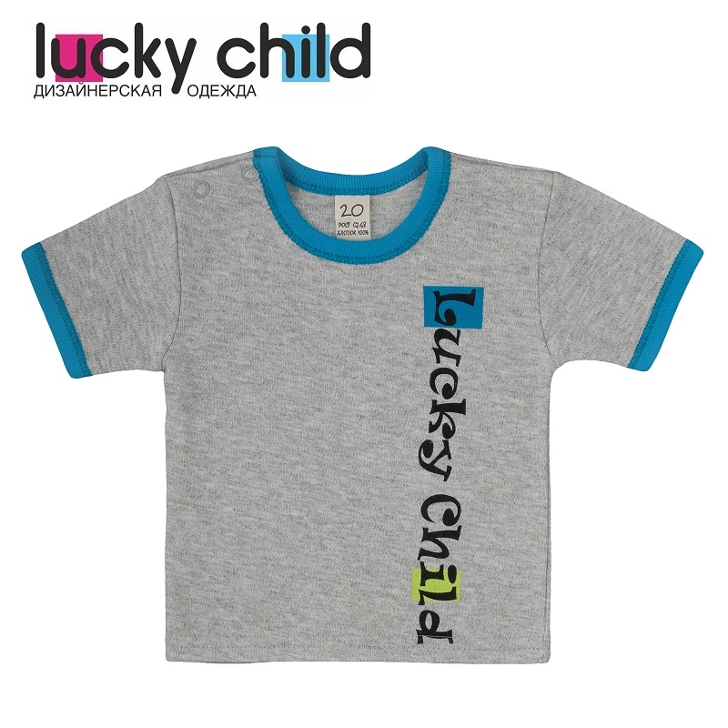 T-Shirts Lucky Child for boys 1-26M (3M-24M) Top Baby T Shirt Kids Tops Children clothes kids outfits letter pattern t shirts in white