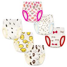 Miękkie pielucha dla niemowląt wielokrotnego użytku dla niemowląt spodnie treningowe bielizna wc szkolenia dla niemowląt zmywalny pieluchy na pieluchy dla niemowląt maluch spodenki tanie tanio 5-12 kg 7-9 miesięcy 10-12 miesięcy 2 lat w górę 13-18 miesięcy 19-24 miesięcy 0-3 miesięcy 4-6 miesięcy Labs spodnie