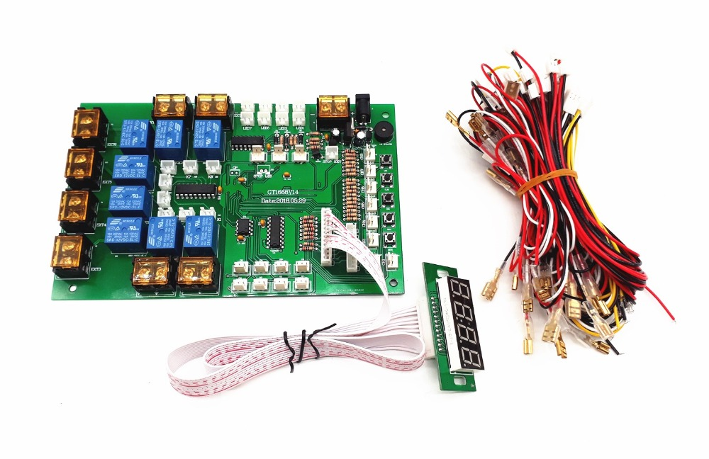 цена на JY-1428 4 digits coin bill card operated times control board for 1-8 devices