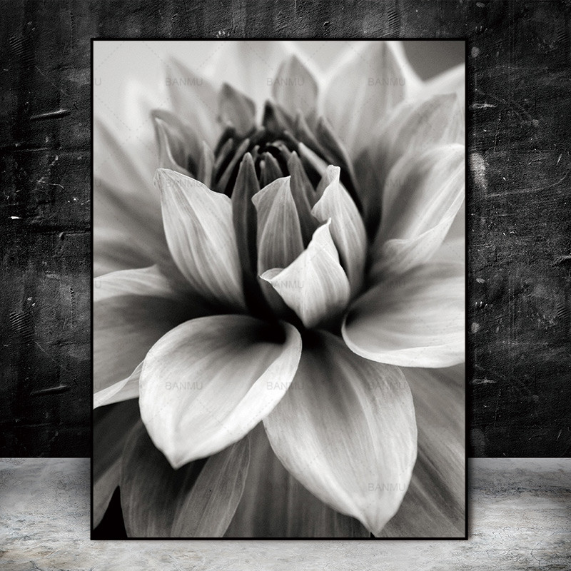 Nordic Abstract Flower In Blossom Wall Immagini Living Room Art Decoration Immagini Scandinavian Canvas Painting Prints No Frame