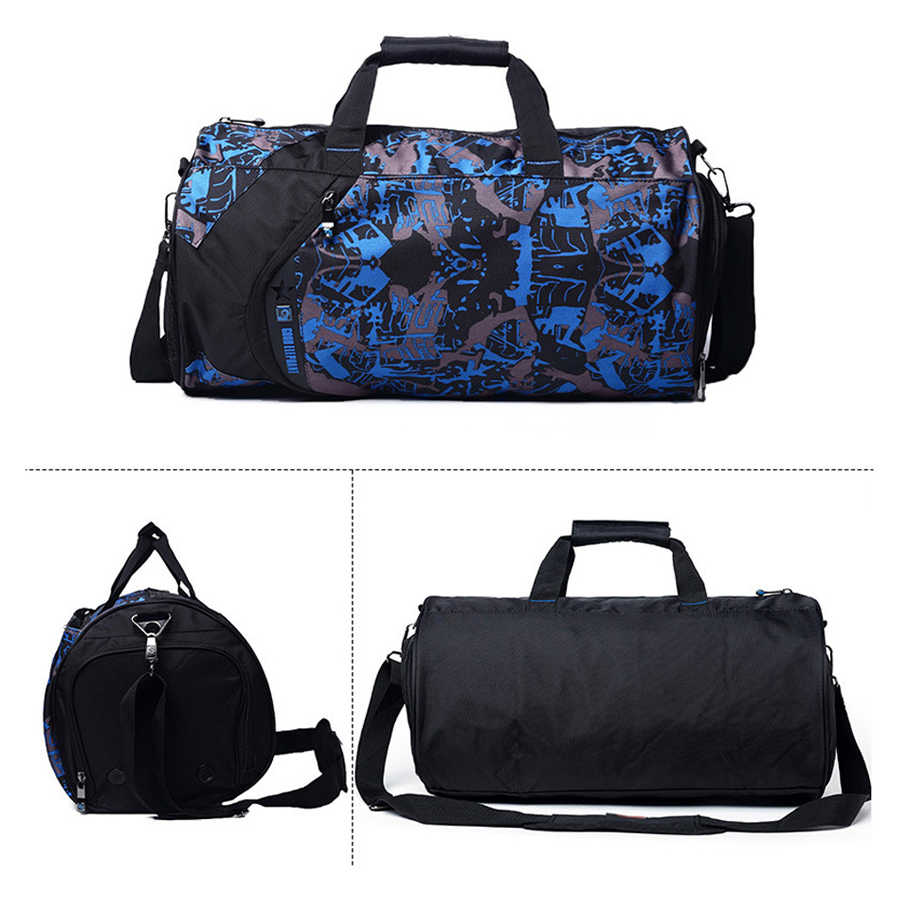1a63ccd3396a Shoe Compartment Sport Gym Bag With Wet Pack For Men Women Training Fitness  Luggage Handbag Travel Duffel Bags Large Small Size