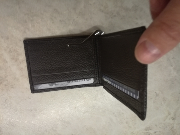 Slim Cash Genuine Leather Women Men Holder Clamp For Money Clip Metal I Male Female Wallet Purse With Card Bill Kashelek Cateira photo review