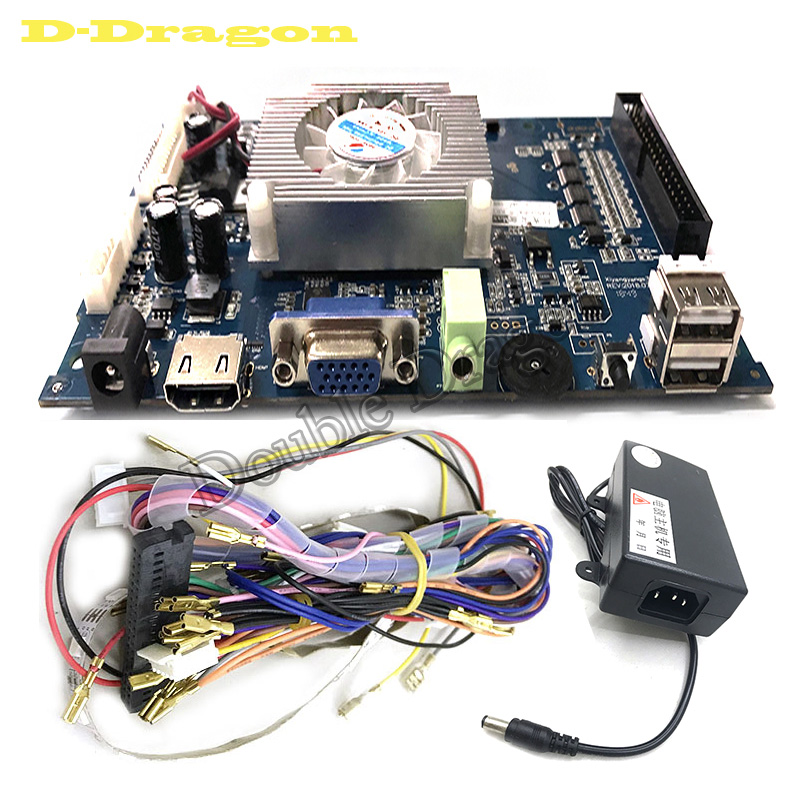 Pandora's 3D Key Max Arcade Game Console Motherboard 1688 in 1 VGA HDMI Output Home Version PCB Board with power adapter