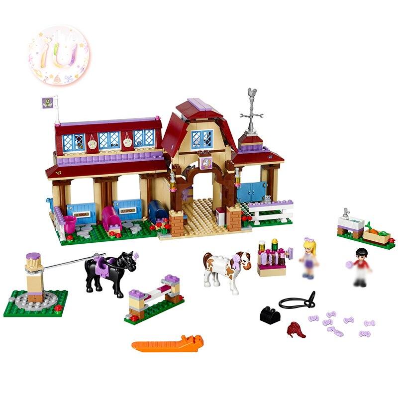 BELA 10562 Girls Heart lake Riding Club Building Blocks DIY Educational Toys For Children Birthday Gifts 594Pcs Compatible 41126