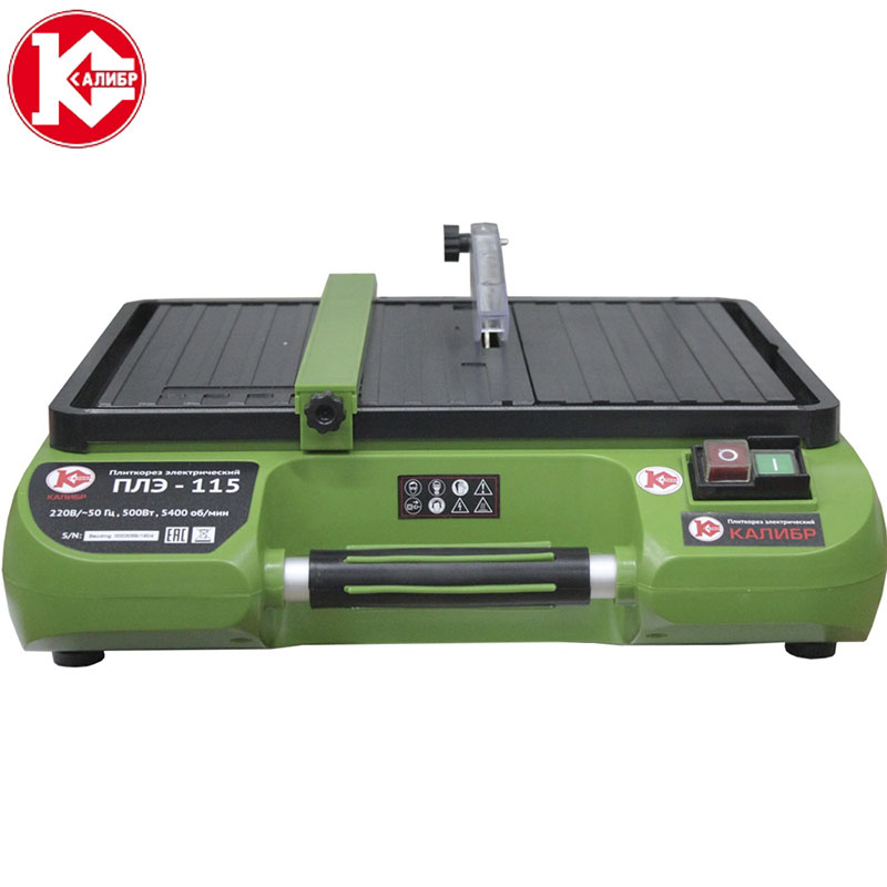 Kalibr PLE-115 electric tile cutting machine Small multifunctional stone floor tile jade cutting chamfering machine tile leveling system spacer clip make wall floor level construction tool include 300caps 800straps 1plier zf g300