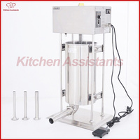 TV30L 30L Heavy Duty Electric Sausage Filler Stuffer Maker Machine With Stainless Steel Tubes