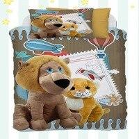 Sonst 4 Stück Kleine Löwe Braun Tiger Blau Flugzeug Ballons 3D Druck Baumwolle Satin Baby Bettbezug Bettwäsche Set Kissen fall Bett Blatt|Bettbezug|Heim und Garten -
