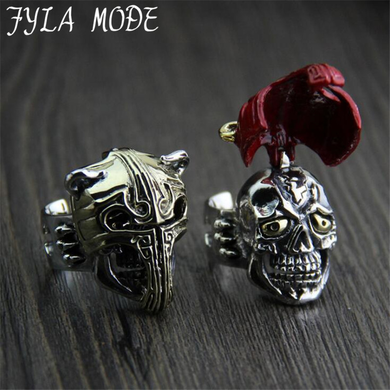 FYLA MODE 2017 Thai silver Ring Retro Unique Exaggerated Domineering Kamen Rider S925 Sterling Silver Ring Men 33MM Width PBG062 thai silver ring retro unique exaggerated domineering kamen rider s925 sterling silver ring men