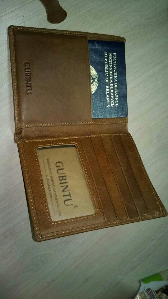 2019 New Men Vintage echt leder Paspoort Cover Houder Kaarthouder Business Creditcardhouder Bruin Multifunctionele tassen photo review