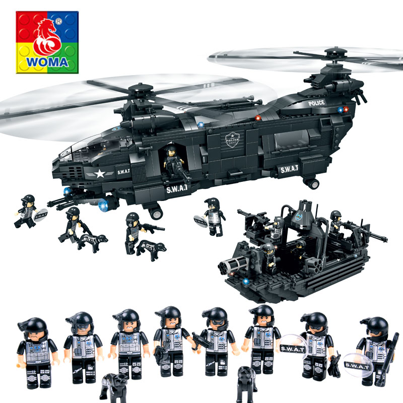 Military Series Police Child Puzzle Assembled City Aircraft Boy Toy Compatible Legoe [small particles] buoubuou creative puzzle toy toy bricks 30 16219 new military military series