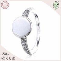 Belle Qualità Nuova Collezione di Moda E Popolare Marca Semplice Ed Elegante 925 Reale Argento anelli Punta Con La Perla