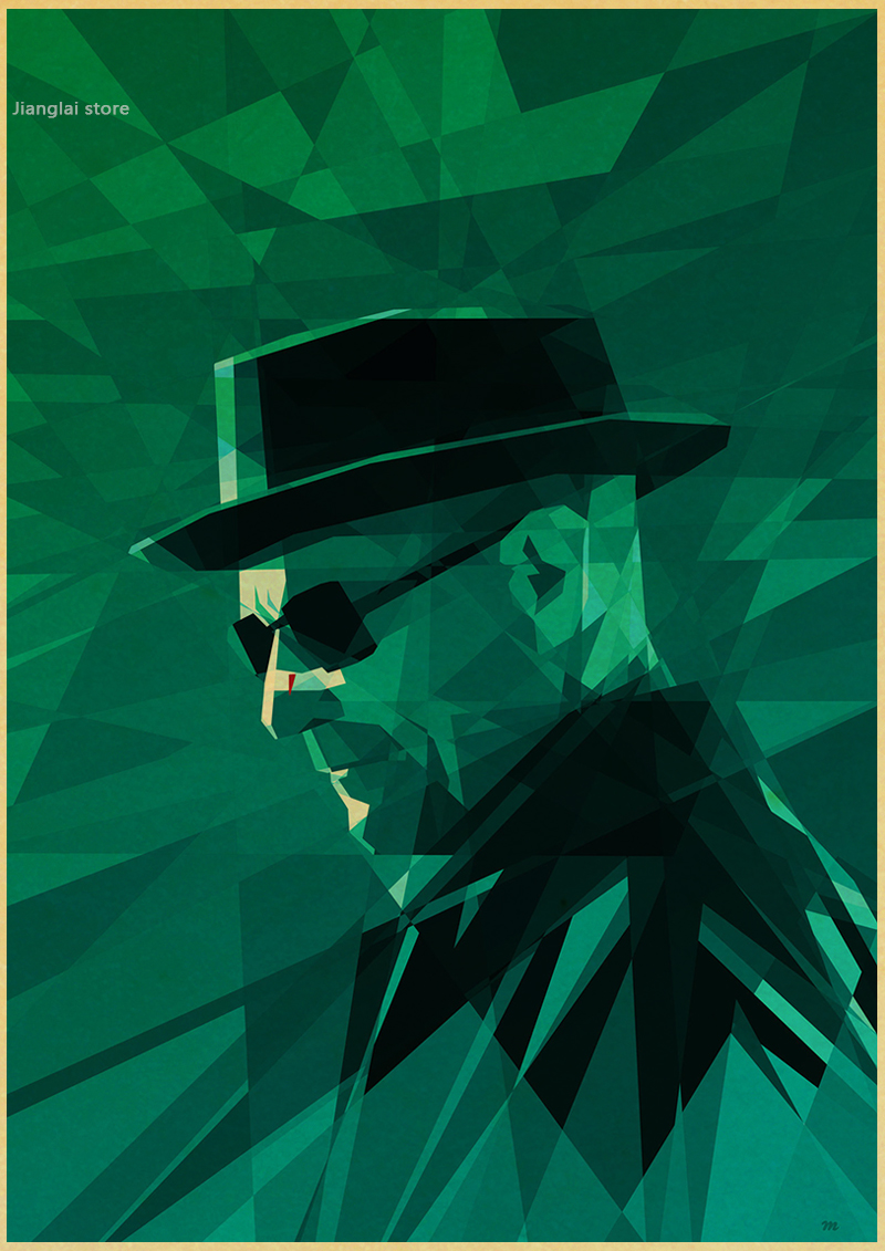 Image 5 - Wall stickers home decor Wall poster Breaking Bad vintage poster retro Walter White posters american TV series-in Wall Stickers from Home & Garden