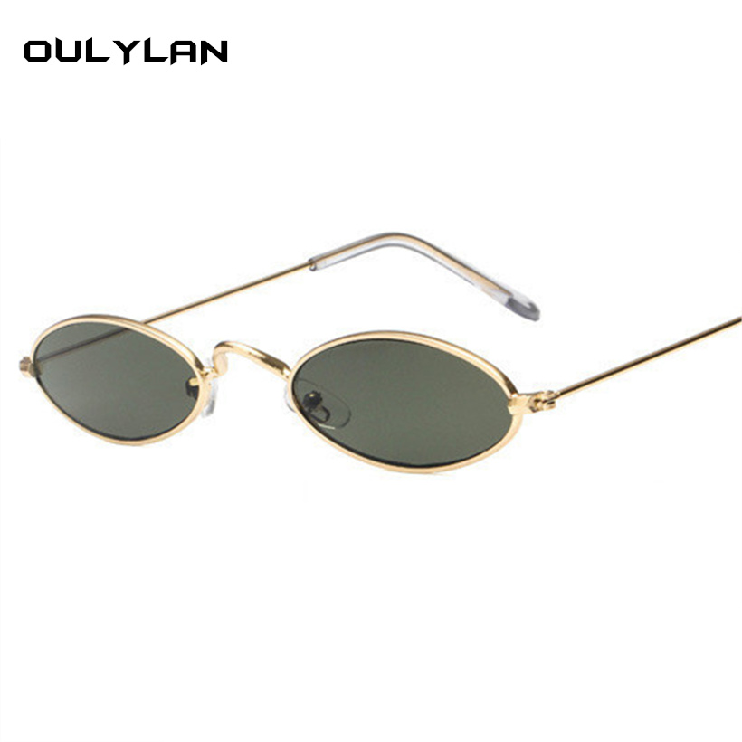 Sun Retro Yellow Tiny Glasses In Men Vintage Sunglasses Skinny oulylan Women Frame Oval 45Off Round Male Small Metal Red Us2 Female Uv400 75 tsrdhQCx