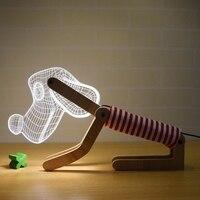 Eletronics 3D желтый собака светодио дный светодиодный стол настольный свет регулируемый источник света