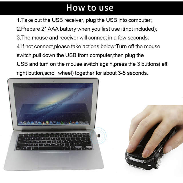 CHUYI Hot Sale Wireless Mouse Cool SUV Sport Car Mouse Gamer 1600DPI USB  Optical Mice Computer Gaming Mause For PC Laptop Gift -in Mice from  Computer
