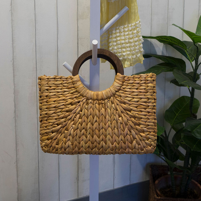 Women Vintage Rattan Handbag Female Bohemian Summer Beach Straw Bags Lady Simple Weave Bag Handmade Casual Large Tote SS3032 (1)