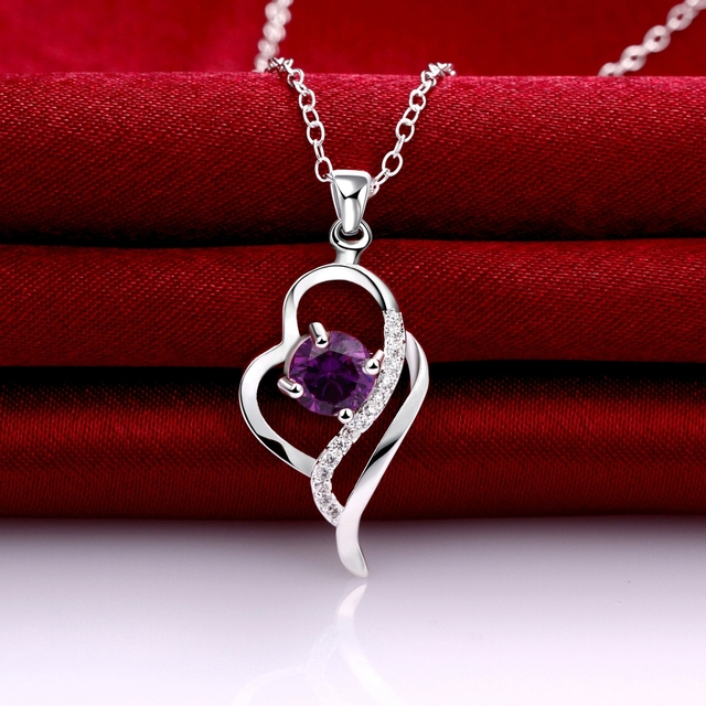925 Sterling Silver Crystal Necklaces Pendants Sale Pure Silver Cross Jewelry For Women Silver Blue Red Hollow Zircon Necklace 4