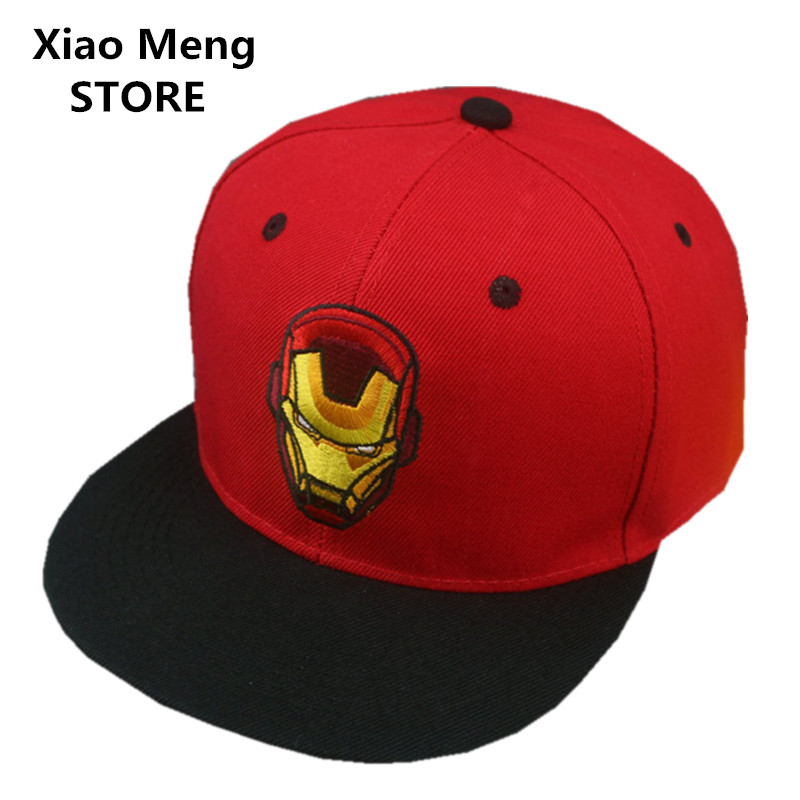 2017 High Quality Iron Man Baseball Cap Men Women Adjustable Marvel The Avengers Snapback Hat Hip Hop Caps Casquette Bones M63 which in shower adjustable women knitted winter baseball cap warm snapback real raccoon hat solid color real fur pompom bones