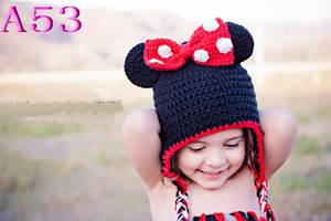 Hat Photography-Props Handmade Crochet Newborn Baby-Girl Winter Knitting for Gorro 30pcs