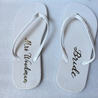 5pairs lot custom text wedding flip flip will be my bridesmaid gift personalized party gifts