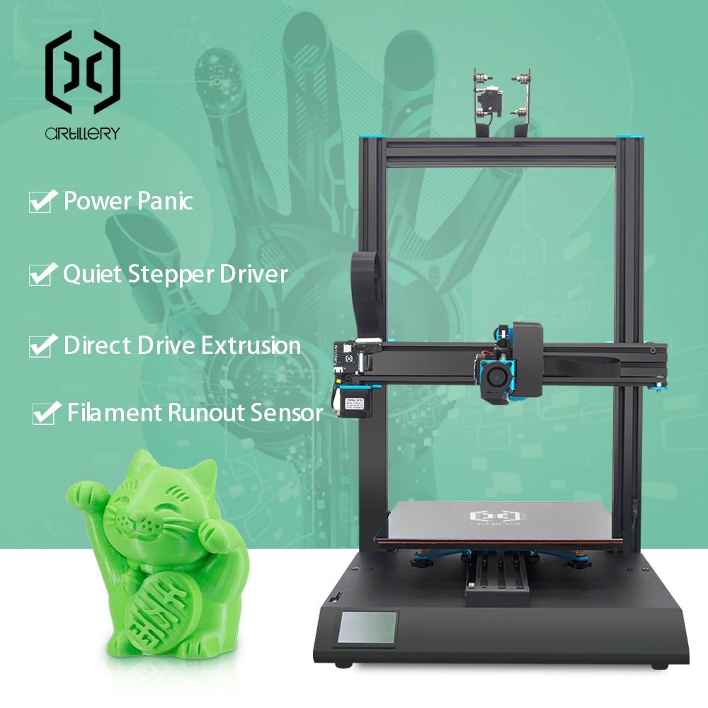 2019 I Più Nuovi Artiglieria 3d stampante Sidewinder X1 Ultra-silenzioso Driver Dual Z assi 3d kit stampante Riprendere Stampa Filamento di rilevamento