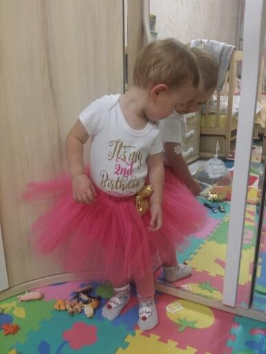 1 Year Baby Girl Birthday Dress photo review