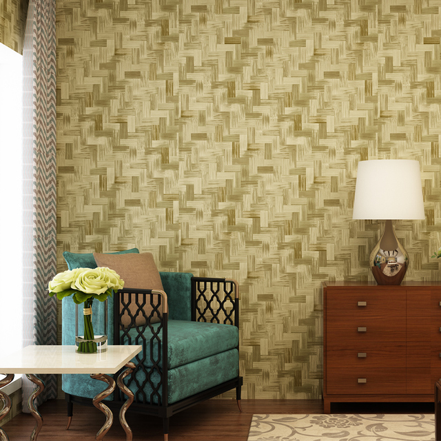 US $25 99 37% OFF|2018 New Creative Abstract Green Bamboo Wallpaper Roll  Mural Vintage PVC Wall Paper 3d Modern Living Room Decor Behang QZ090-in