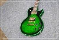 Manufacturer Of Custom Wholesale All Kinds Of Electric Guitar LP Tiger Stripes TBL Color Can